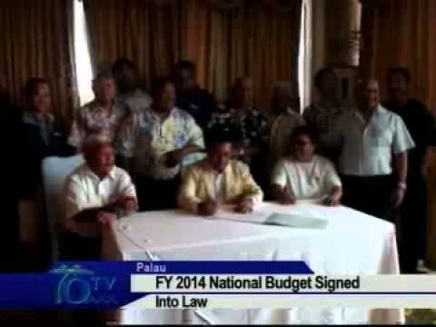 Palau President Signs FY2014 Budget Into Law