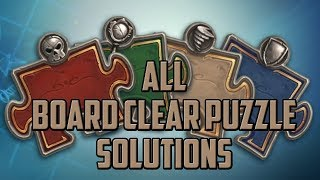 Board Clear Puzzle Solutions - Hearthstone Puzzle Labs