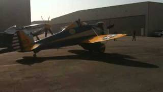 Boeing P-26 Peashooter warming up