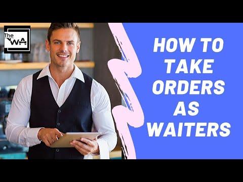 Waiter training: How to take orders as a waitresswaiter Restaurant training
