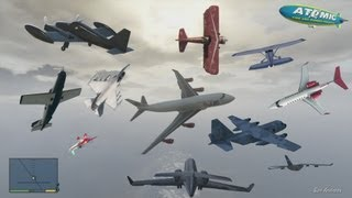 GTA V - Every Airplanes Gameplay HD