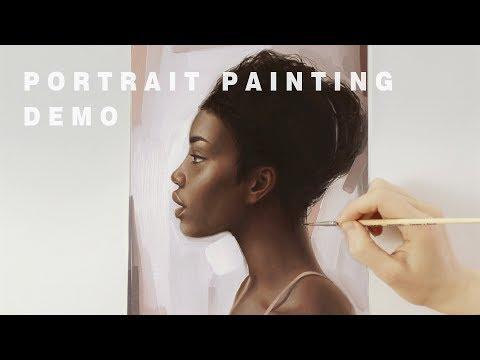 PORTRAIT PAINTING TIME-LAPSE    Oil Painting