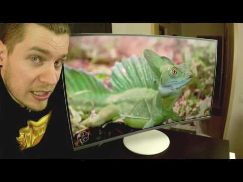 """Samsung CH711 31,5"""" curved quantum dot monitor unboxing"""