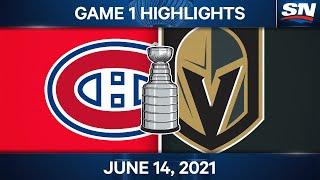NHL Game Highlights   Canadiens vs. Golden Knights, Game 1 - Jun. 14, 2021