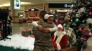 Jackson serviceman surprises his children at ocean county mall