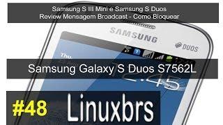 Samsung S3 Mini e Samsung S Duos - Review Mensagem Broadcast - Como Bloquear - PT-BR