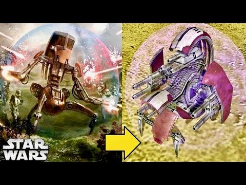 The Evolution Of Destroyer Droids (Droidekas) During The Clone Wars