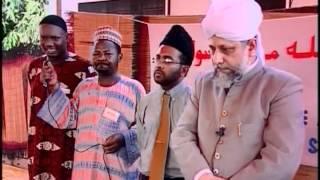 Mulaqat with Porto-Novo Jama'at, Foundation Stone for new mosque, Benin 2004 ~ Islam Ahmadiyya