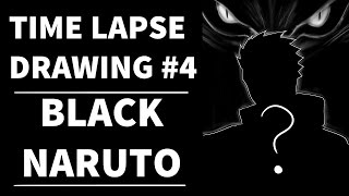 SPEED DRAWING #3: Black Naruto - Lineart + Color