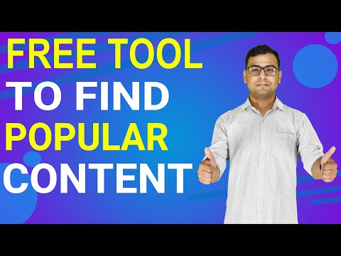 Tool to Find Popular Content | Content Research Tool | (in Hindi) thumbnail
