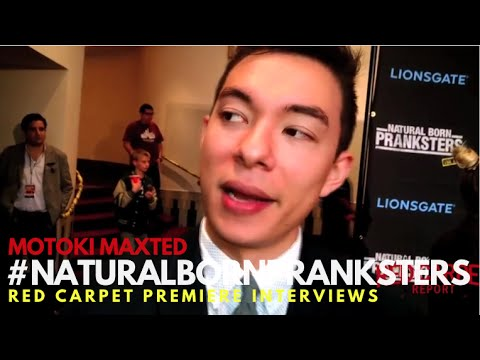 Motoki Maxted itnerviewed at Natural Born Pranksters Los Angeles Premiere #‎NaturalBornPranksters
