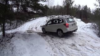 Subaru Outback vs Forester 4x4 Off road Snow Forest Quarry покатушки на бездорожье