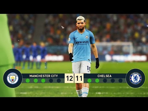 Manchester City vs Chelsea FC | Penalty Shootout | PES 2019 Gameplay PC