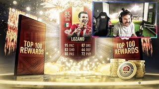 MY TOP 100 FUT CHAMPS REWARDS!! WE GOT HIM!! FIFA 19