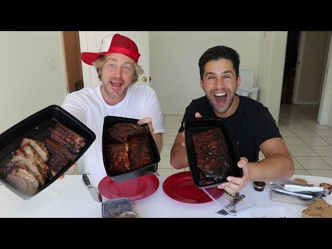 JOSH PECK IS GONNA BE A DAD!! BBQ MUKBANG