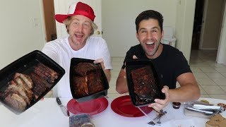 JOSH PECK IS GONNA BE A DAD!! (BBQ MUKBANG)