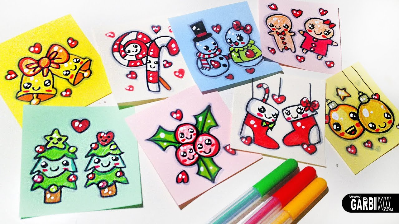 Merry Christmas - Easy Drawings and Kawaii by Garbi KW - YouTube