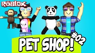 VISITING THE CITY AND #MOVIMENTODOMATO! -ROBLOX (Pet Shop Tycoon) #02