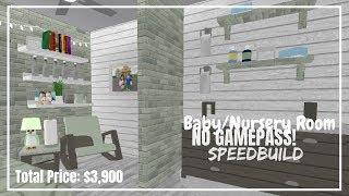 NO GAMEPASS Baby Nursery Room Speedbuild!! Bloxburg | Roblox|