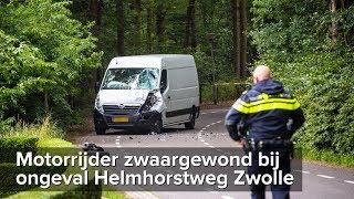 Motorrijder zwaargewond bij ernstig ongeval Helmhorstweg Zwolle - ©StefanVerkerk.nl