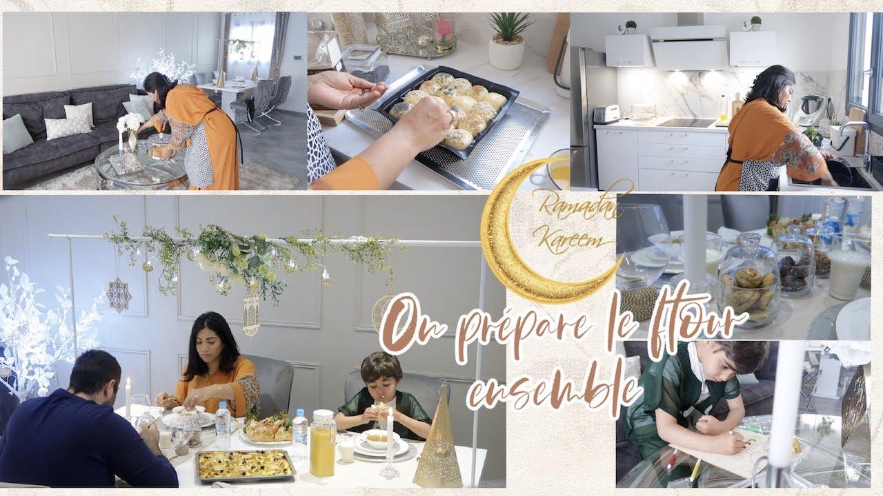 Routine Ramadan 🌙 Dressage table ramadan I On prépare le ftour ensemble I Menu simple et rapide