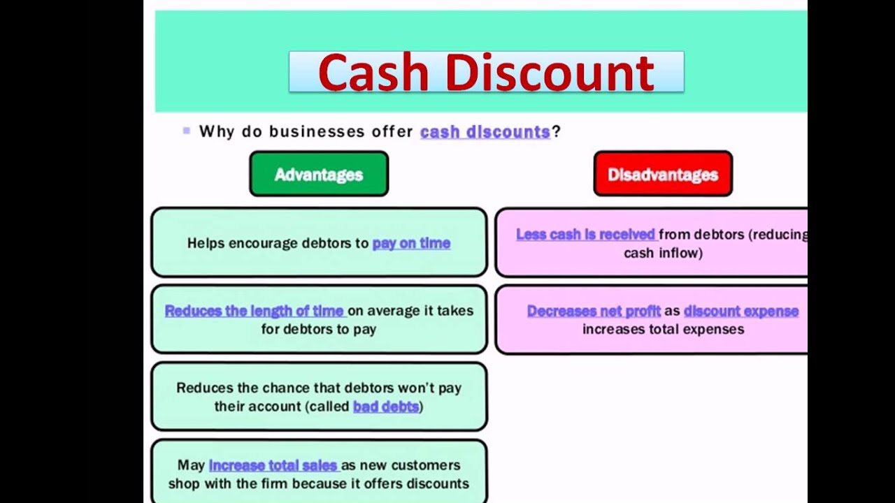cash discount accounting