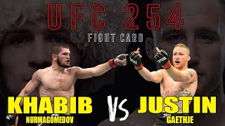 PREVIEW UFC 254 !!! Khabib Nurmagomedov vs Justin Gaethje di Abu Dhabi | FIGHT CARD