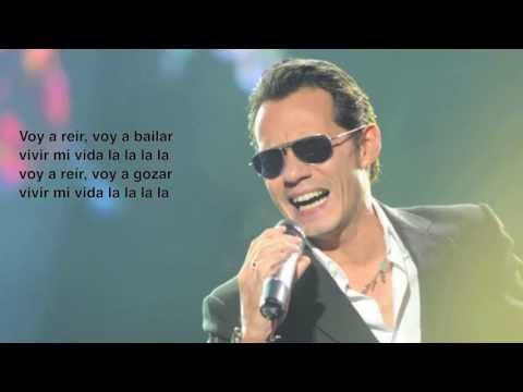 Marc Anthony - Vivir Mi Vida Spanish Lyrics Videos De Viajes