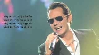 Marc Anthony - Vivir Mi Vida Spanish Lyrics