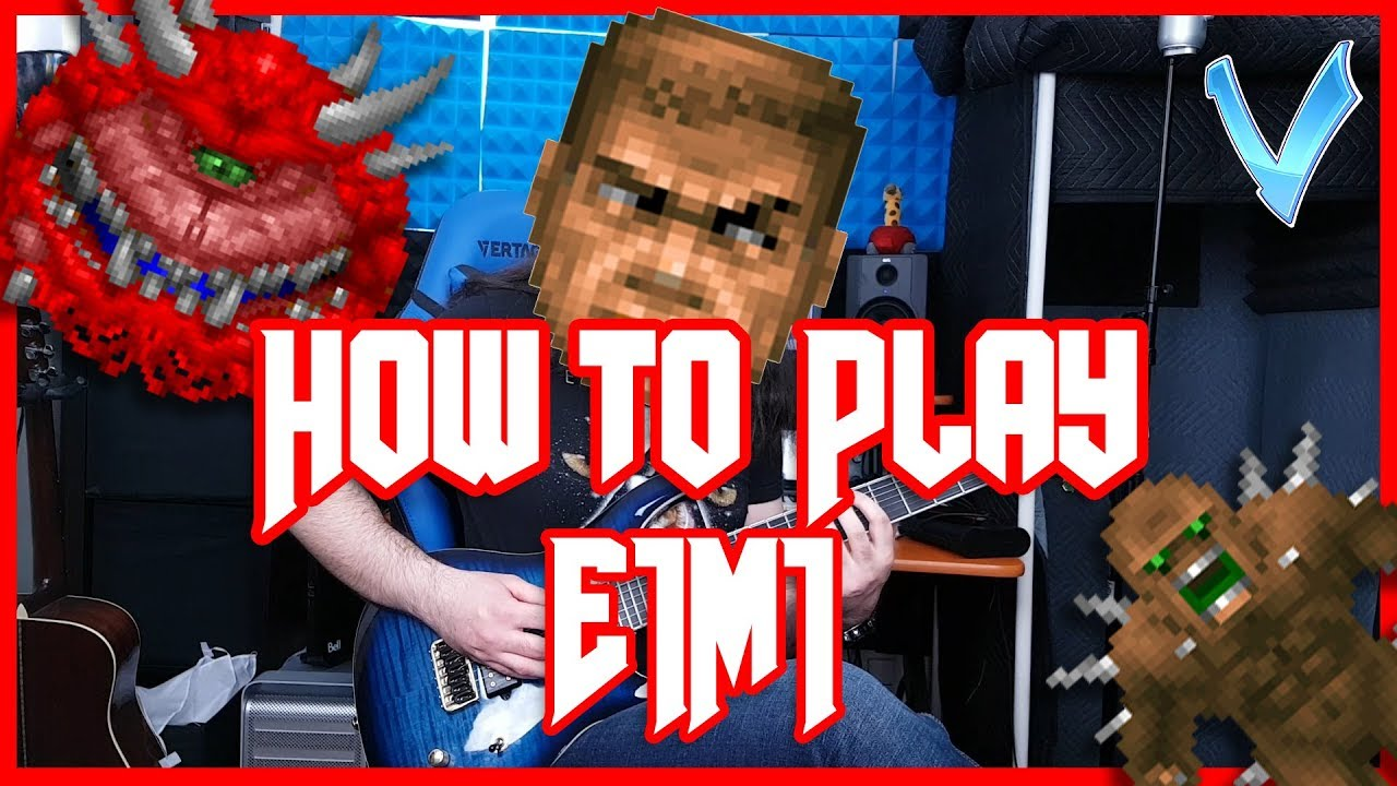 How to Play with V: E1M1 from DOOM on Guitar