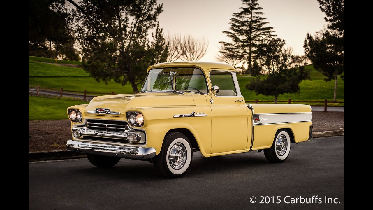 1958 Chevy Cameo Pickup Truck Youtube