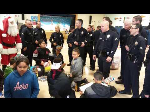 LAPD & Santa Visit Selma Avenue Elementary School