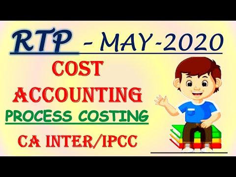 RTP May 2020 - CA IPCC/Intermediate Cost Accounting -Process Costing