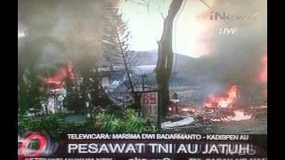 HOT NEWS | PESAWAT HERCULES JATUH DI MEDAN JL. JAMIN GINTING TGL. 30 JUNI 2015