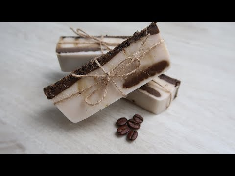 Funny Soap making for Beginners – Coconut and Coffee Scrub Soap (Melt and Pour)
