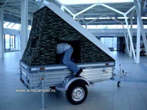 Прицеп-палатка на базе МЗСА для охоты, рыбалки, отдыха. - YouTube