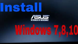Install Windows 7, 8, 10 in any Asus laptop with CD or USB |Tech Buy|