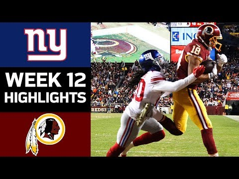 Giants vs. Redskins | NFL Week 12 Game Highlights