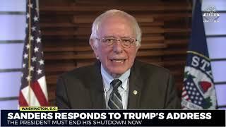 Bernie Sanders responds to Trump's national address