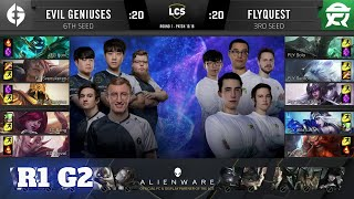 FlyQuest vs Evil Geniuses - Game 2   Round 1 Playoffs S10 LCS Summer 2020   FLY vs EG G2