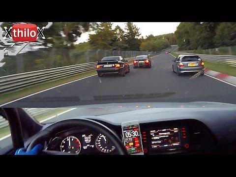 BMW M3 E36 + Leon Cupra + BMW M3 E46 + E92 Schirmer M3 - Nürburgring Nordschleife