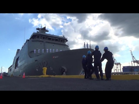 Navy welcomes BRP Davao del Sur
