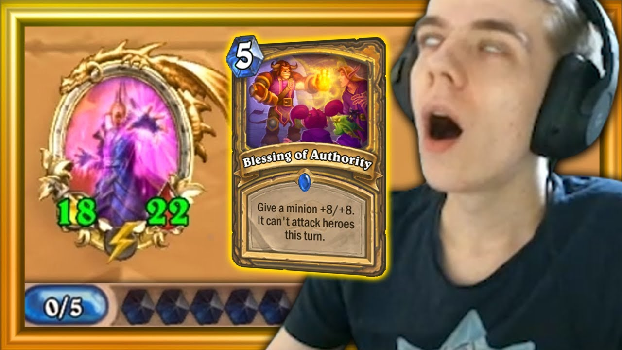 Turn 5 - 18/22?! Blessing of Authority Is BONKERS STRONG! (Hearthstone: Scholomance Academy)