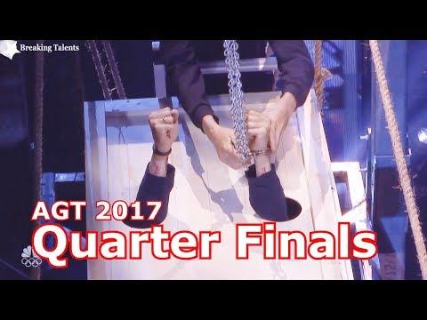 Damian Aditya  Escape/Magic Act Technical Problem Quarter Finals America's Got Talent 2017 Live  2