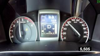Isuzu D-Max - Acceleration 0-100 km/h (Racelogic)