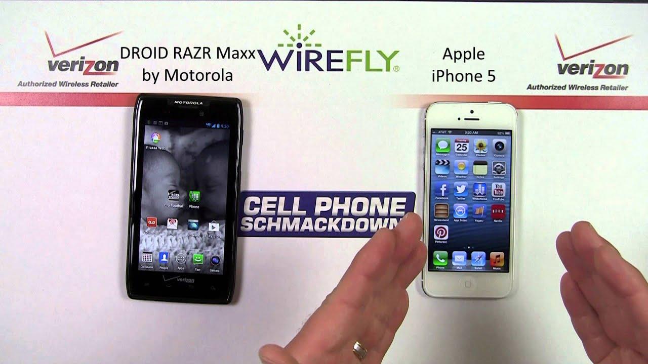 iphone se vs motorola razer