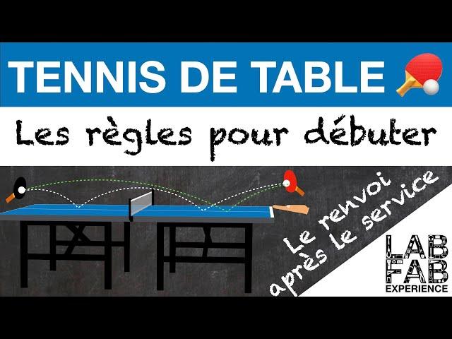 Tennis de table - Le renvoi après le service (L'essentiel des règles 2/4)
