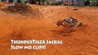 Thunder Tiger JACKAL RC 1/10 Scale Electric 4WD RC Desert Buggy Offroad Slowmo fun!