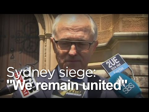 Sydney Siege: Turnbull Cries Outside Church Service