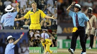 First Ever RED CARD in Cricket History | Billy Bowden shows Red Card to McGrath for Bowling Underarm